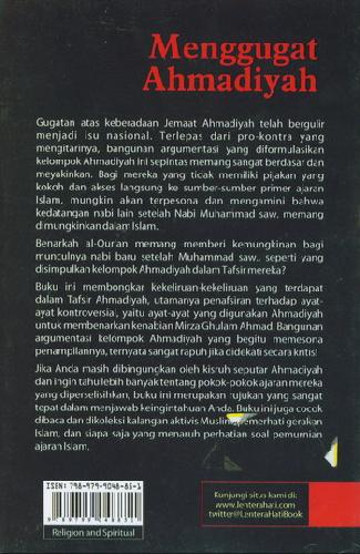 Cover Belakang Buku Menggugat Ahmadiyah