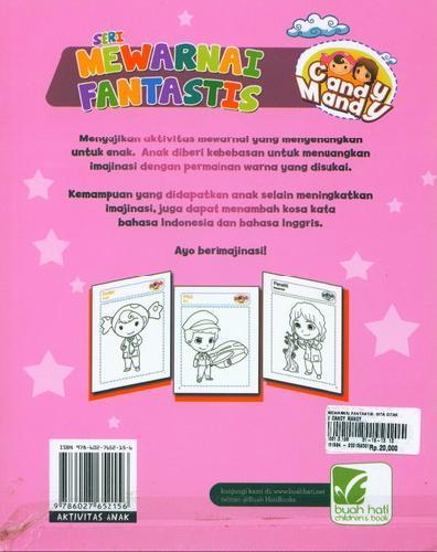 Cover Belakang Buku Mewarnai Fantastis : Cita-Citaku Bersama Candy Mandy