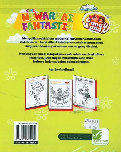 Cover Belakang Buku Mewarnai Fantastis : Indonesiaku Indah Candy Mandy