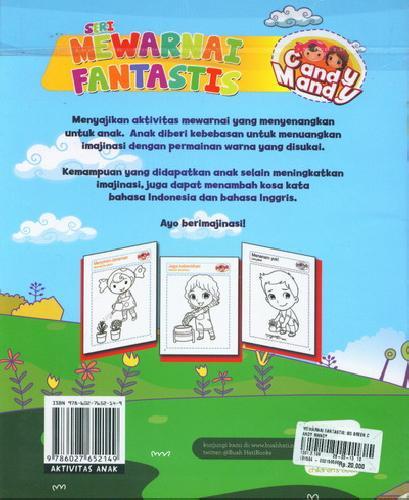 Cover Belakang Buku Mewarnai Fantastis : Go Green Bersama Candy Mandy