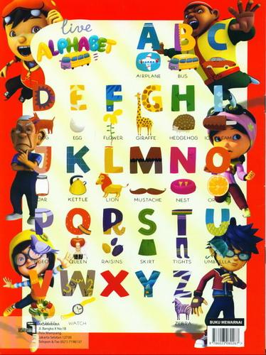 Cover Belakang Buku Belajar Mewarnai Boboi Boy Edisi ke-2