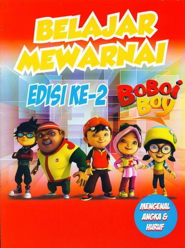 Cover Buku Belajar Mewarnai Boboi Boy Edisi ke-2