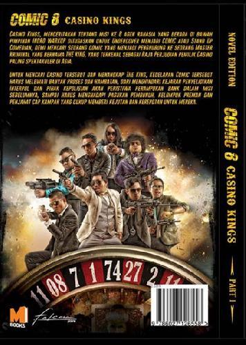 Cover Belakang Buku Comic 8 : Casino Kings Part 1 / Novel Edition