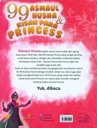 Cover Belakang Buku 99 Asmaul Husna&Kisah Para Princess
