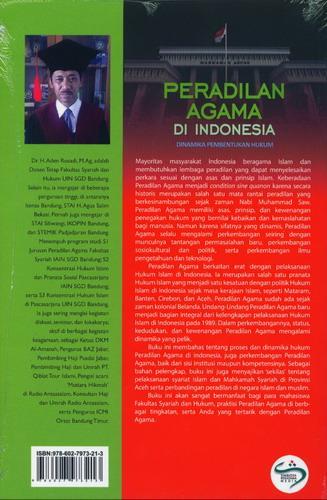 Cover Belakang Buku Peradilan Agama Di Indonesia
