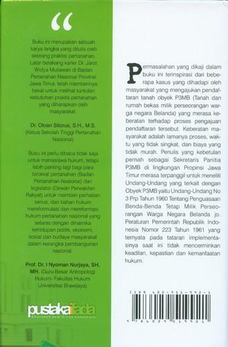 Cover Belakang Buku Tinjauan Kritis Regulasi dan Implementasi Kebijakan P3MB