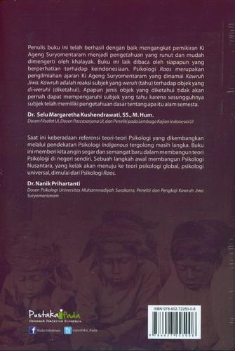 Cover Belakang Buku Psikologi Raos : Saintifikasi Kawruh Jiwa Ki Ageng Suryomentaram