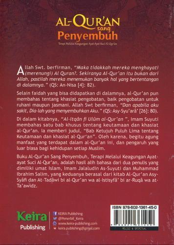Cover Belakang Buku Al Quran Sang Penyembuh