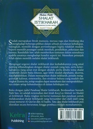 Cover Belakang Buku Panduan Praktis Shalat Istikharah Berdasarkan Sunnah Nabi