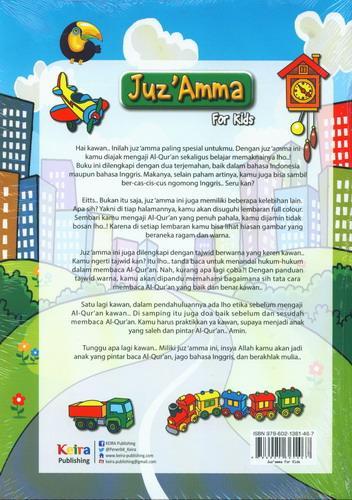 Cover Belakang Buku Juz Amma For Kids Untuk Sd/Mi & Smp/Mts
