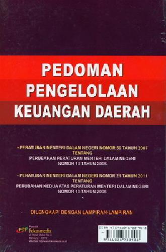 Cover Belakang Buku Pedoman Pengelolaan Keuangan Daerah (Dilengkapi dengan Lampiran)