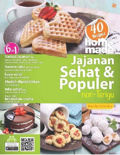 Cover Buku 40 Recipes Home Made Jajanan Sehat dan Popuer Non Terigu