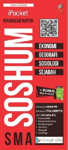 Cover Buku I POCKET SMA RINGKASAN MATERI SOSHUM ( EKONOMI, GEOGRAFI, SOSIOLOGI, SEJARAH )