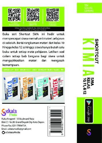 Cover Belakang Buku SHORCUT KIMIA SMA KELAS 10,11,12