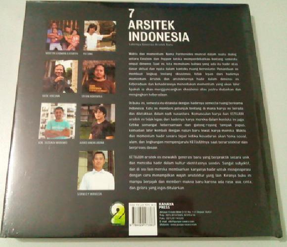 Cover Belakang Buku 7 Arsitek Indonesia - Lahirnya Generasi Arsitek Baru (Soft Cover)