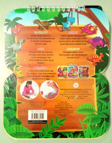 Cover Belakang Buku Buku Hapus Tulis Mahir Menggambar Dinosaurus
