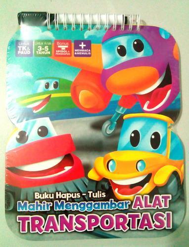 Cover Buku Buku Hapus Tulis Mahir Menggambar Alat Transportasi