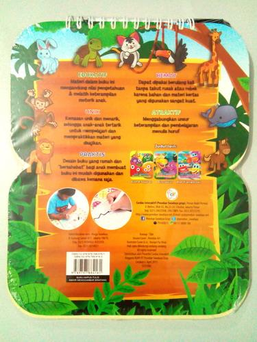 Cover Belakang Buku Buku Hapus Tulis Mahir Menggambar Binatang