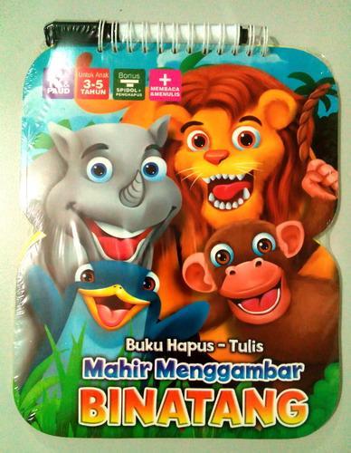 Cover Buku Buku Hapus Tulis Mahir Menggambar Binatang