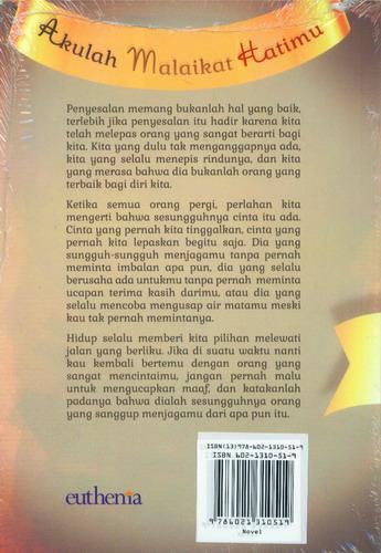 Cover Belakang Buku Akulah Malaikat Hatimu