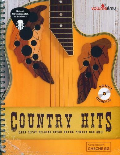 Cover Buku Country Hits: Cara Cepat Belajar Gitar Untuk Pemula&Ahli+Cd