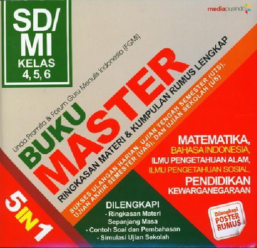 Cover Buku Sd/Mi Kl 4-6 Buku Master 5 In 1: Ringkasan Materi&Kumpulan Rumus Lengkap
