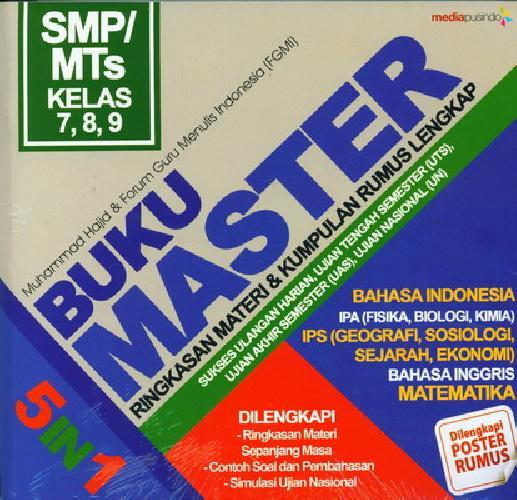 Cover Buku Smp/Mts Kl 7-9 Buku Master 5 In 1: Ringkasan Materi&Kumpulan Rumus Lengkap
