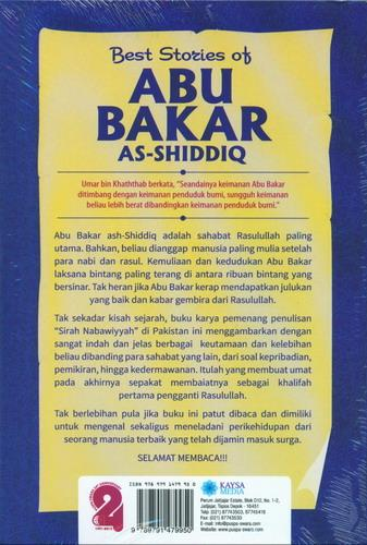 Cover Belakang Buku Best Stories Of Abu Bakar As Shiddiq