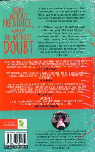 Cover Belakang Buku Read Without Prejudice. Do Without Doubt