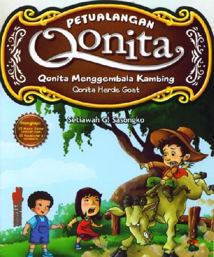Cover Buku Petualangan Qonita : Qonita Menggembala Kambing (Bilingual+Full Color)