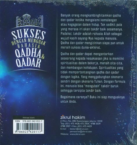 Cover Belakang Buku Sukses Dengan Menguak Rahasia Qadha dan Qadar