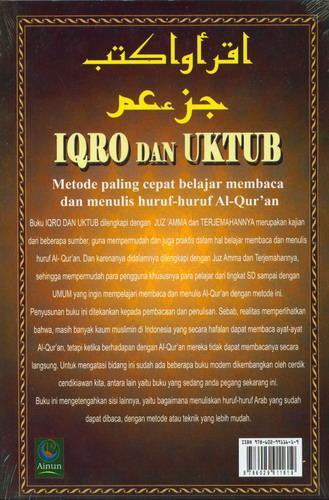 Cover Belakang Buku IQRO dan UKTUB