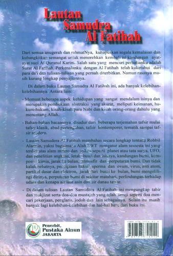 Cover Belakang Buku Lautan Samudra Al Fatihah