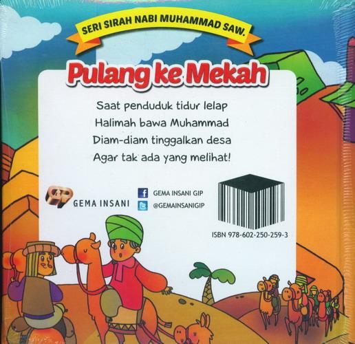 Cover Belakang Buku Seri Sirah Nabi Muhammad Saw. 10 : Pulang Ke Mekah