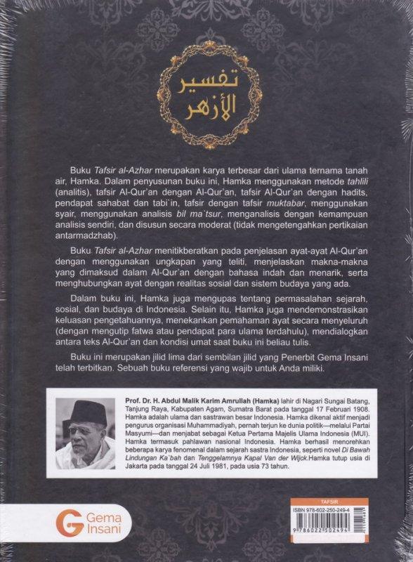 Cover Belakang Buku Tafsir Al-Azhar Jilid 5