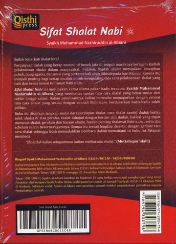Cover Belakang Buku Sifat Shalat Nabi