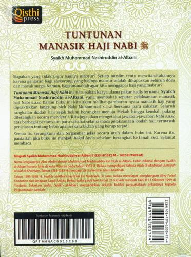 Cover Belakang Buku Tuntunan Manasik Haji Nabi