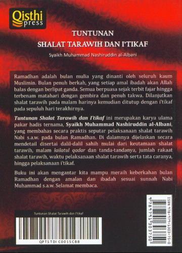 Cover Belakang Buku Tuntunan Shalat Tarawih dan Itikaf