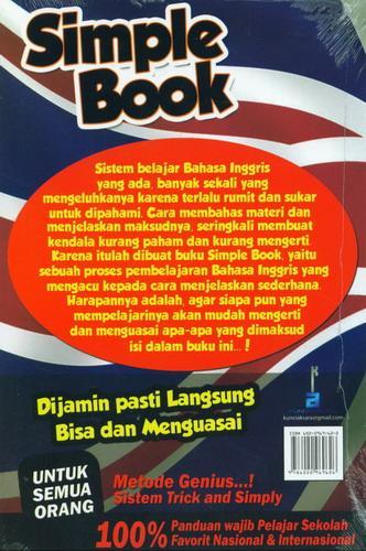 Cover Belakang Buku Simple Book Grammar Bahasa Inggris