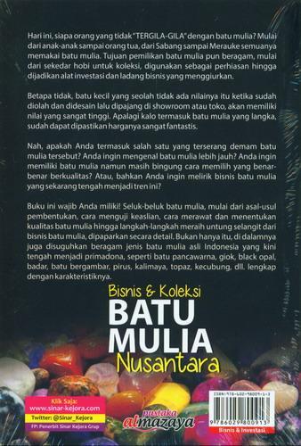 Cover Belakang Buku Bisnis dan Koleksi Batu Mulia Nusantara