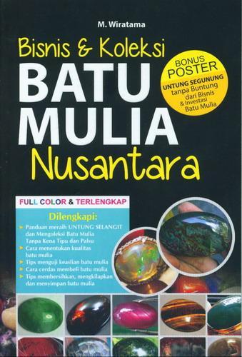 Cover Buku Bisnis dan Koleksi Batu Mulia Nusantara