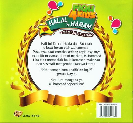 Cover Belakang Buku Fiqh 4 Kids Halal dan Haram - Memilih Jajanan