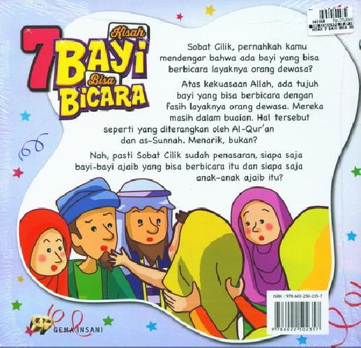 Cover Belakang Buku Kisah 7 Bayi Bisa Bicara