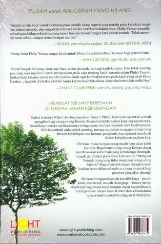 Cover Belakang Buku Anugerah yang Hilang