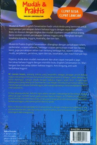 Cover Belakang Buku Mudah dan Praktis English Conversation