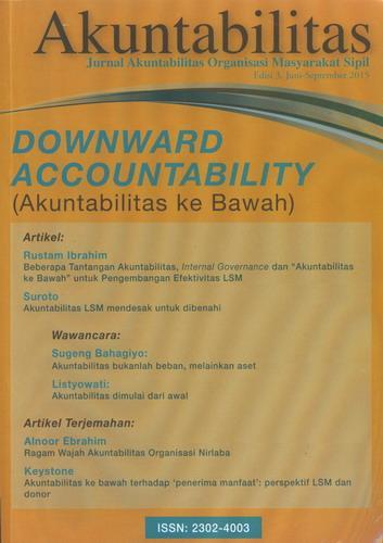 Cover Buku Akuntabilitas : Edisi 3, Juni-September 2015 Downward Accountability