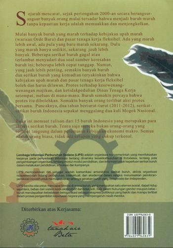 Cover Belakang Buku Buruh Menuliskan Perlawanannya