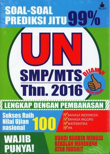 Cover Buku Soal-Soal Prediksi Jitu 99% UN SMP/MTS 2016