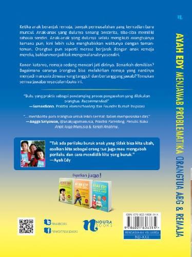 Cover Belakang Buku Ayah Edy Menjawab Problematika Orangtua Abg