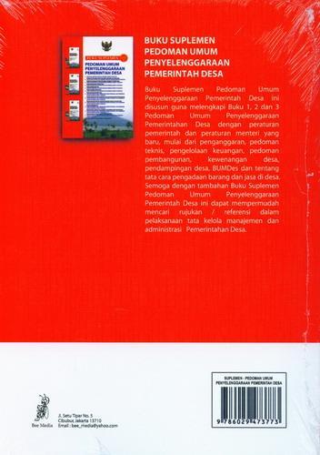 Cover Belakang Buku Buku Suplemen Pedoman Umum Penyelenggaraan Pemerintah Desa